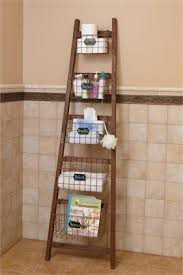 Ladder Shelf For Bathroom Your Heart U0027s Delight By Audrey U0027s Ladder Shelf With Wire Baskets
