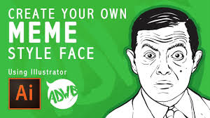 Create Own Memes - create your own meme style face tutorial using illustrator youtube