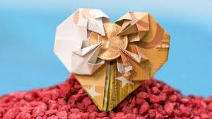 Money Wedding Gift Wedding Money Gift Heart Out Of A Banknote Origami How To Youtube
