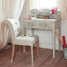 bureau secr aire bois bureau secrétaire en bois gris l 80 cm camille maisons du monde