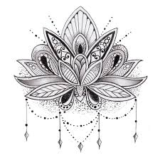 Lotus Flower Coloring Pages 411946 Mandala Flowers Coloring Pages