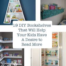 cool kids bookshelves diy bookshelves that will help your kids a desire to read more