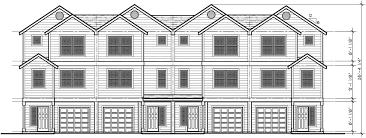four plex house plans 4 unit multi family house plans f 558
