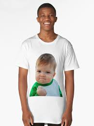 Baby With Fist Meme - nailed it fist pump baby meme long t shirt by piscao redbubble