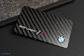 Luxury Business Cards Bmw Langley Carbon Fiber Business Card