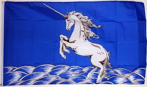 Scottish County Flags Unicorn Blue U0026 White 5 X 3 Flag