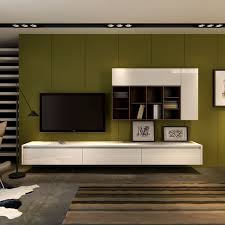 Wall Mount Tv Stand With Shelves by Fascinating Living Space With White Wooden Floating Cabinet And Tv