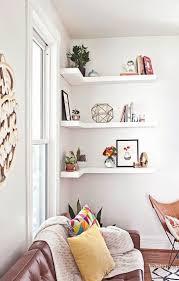 Living Room Corner Decor Corner Shelves A Smart Small Space Solution All Over The House