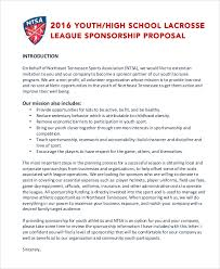 8 sports sponsorship proposal templates free sample example