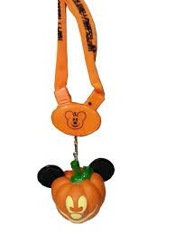 halloween necklace mickey mouse light up pumpkin