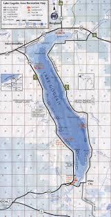 Map Of Upper Peninsula Lake Gogebic Area In The Upper Peninsula Of Michigan