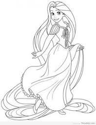 coloring picture printable disney princess tangled rapunzel