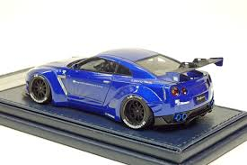 nissan gtr liberty walk blue anjapan rakuten global market resin cast minicar resin cast car