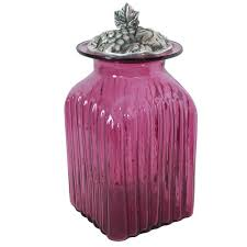 pink kitchen canisters blown glass canisters collection grape leaf kitchen canister