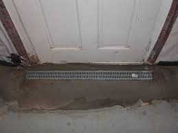 Installing A Basement Entry Drain A Concord Carpenter