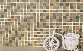 blue w45cm self adhesive mosaic wallpaper anti oil paste kitchen