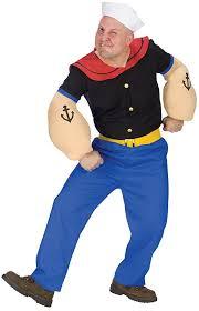 Blue Man Halloween Costume Amazon Fun Costumes Men U0027s Mens Popeye Costume Clothing