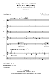 white satb by irving berlin arr j w pepper sheet