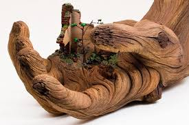 wood sculpture hyperrealistic wood sculptures that are actually made of ceramic
