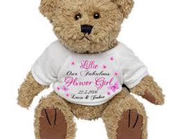 flower girl teddy gift flower girl gift etsy uk