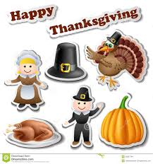 thanksgiving sticker set stock vector image of label 35867344