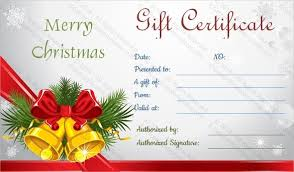gift voucher samples merry christmas gift voucher template template idea