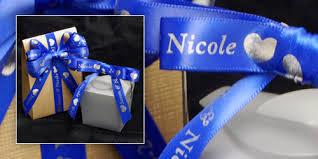 personalized wedding ribbon wedding favors