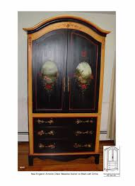 Black Armoire Hand Painted Armoires Pieces Furniture
