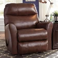 signature design by ashley pranav leather match rocker recliner