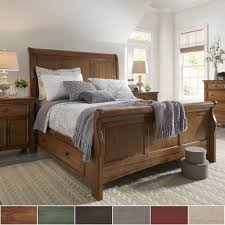 Platform Sleigh Bed Ediline Size Wood Sleigh Storage Platform Bed By Tribecca Home