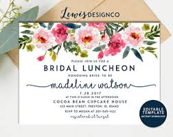 invitations for bridal luncheon bridesmaid luncheon invitations etsy