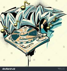 graffiti design design turntable graffiti arrows stock vector 412303600