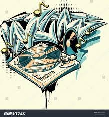 design turntable graffiti arrows stock vector 412303600 - Graffiti Design
