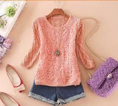 d37524a korea new style fashion lace knitting fancy