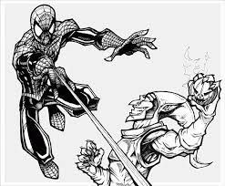 spiderman fighting green goblin coloring coloring