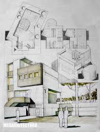 contemporary house architectural drawing arch student com