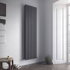 kitchen radiator ideas ximax fortuna duplex vertical radiator anthracite h 1800 mm w
