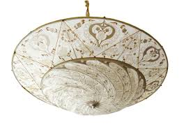 chandeliers vancouver vintage fortuny venetian hand painted silk ceiling lamp
