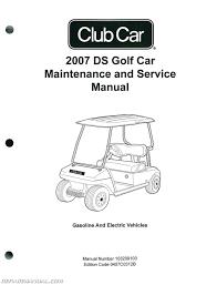 club car ds golf car gas and electric golf cart service manual
