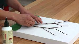 how to make a twig tree canvas diy at bunnings youtube