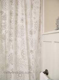thrifty and chic diy projects and home decor bath sneak peak and curtain turned shower curtain
