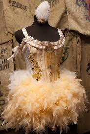 olympian great gatsby dress gold burlesque showgirl corset costume