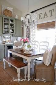 country dining table with bench foter