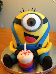 happy birthday cake minions fondant cake images