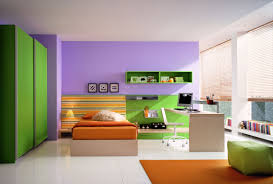 Bedroom Color Bedroom Comely Kids Bedroom Design With Green Painted Wall Also