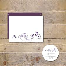 bicycle baby announcements bicycles baby shower thank you