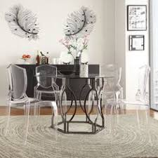 Shop For INSPIRE Q Davlin Round Glass Top Champagne Base Dining - Glass dining room