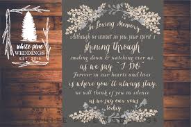 wedding memorial sign printable wedding memorial sign in loving memory