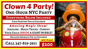 clowns for birthday in nyc prices clown4party kid s birthday clown nycprices