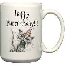 happy purr thday happy birthday cat lover gift coffee lover